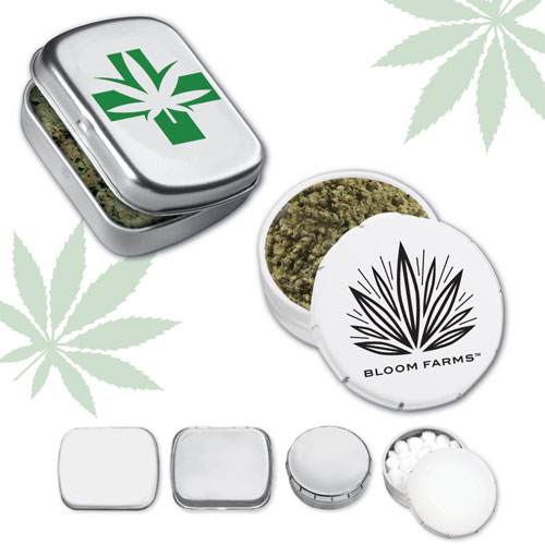 Rectangle & Pop-Snap™ Tins Cannabis - All-in-One, the write